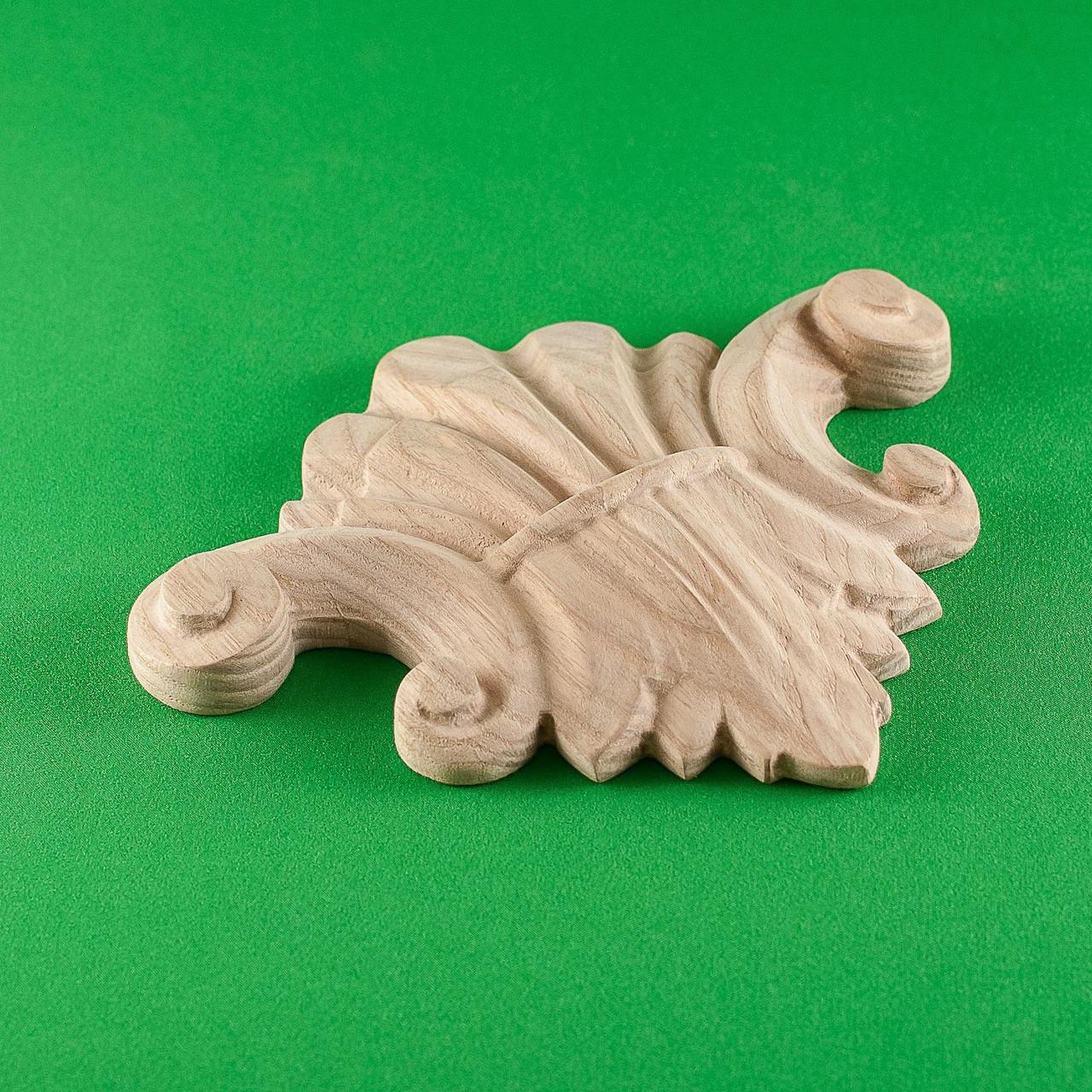 Код ДЦ14. Резной деревянный декор для мебели. Декор центральный