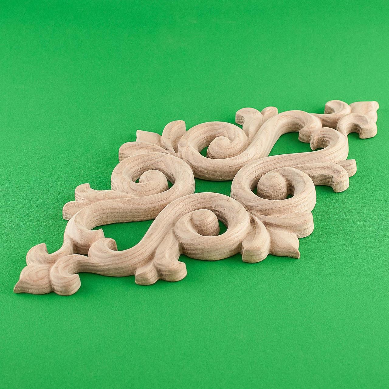 Код ДЦ12. Резной деревянный декор для мебели. Декор центральный
