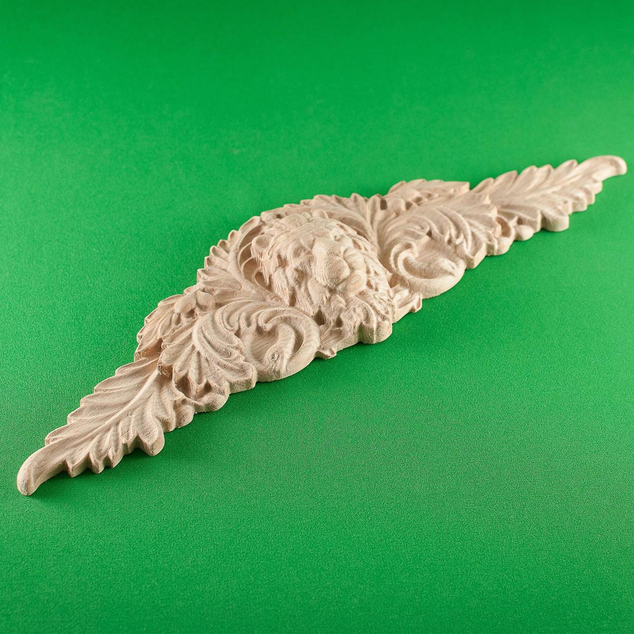 Код ДЦ15. Резной деревянный декор для мебели. Декор центральный