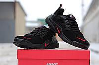 Мужские кроссовки Nike Air Presto, замшевые, черные / кроссовки мужские Найк Аир Престо, стильные и удобные