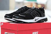 Мужские кроссовки Nike Air Presto, замшевые, черные с белым / кроссовки мужские Найк Аир Престо, модные