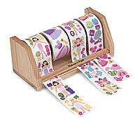 MD4218 Dress-Up Princess & Fairy Sticker Rolls (Гигантский набор наклеек на ролике для девочек, 1300 шт.)