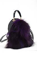 Стильная сумка- рюкзак  Weekend от компании Yes,фиолетовая с мехом