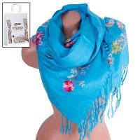 Женский шерстяной шарф 180 на 70 см ETERNO (ЭТЕРНО) ES0206-7-blue