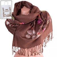 Женский шерстяной шарф 166 на 63 см ETERNO (ЭТЕРНО) ES0206-7-brown