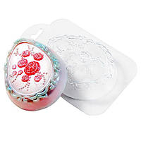 Форма для мыла пластиковая Яйцо с розочками