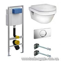 Комплект инсталяции Viega 606688 + унитаз Gustavberg 5G84HR01+ кнопка 654504