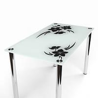 """Кухонный стол стеклянный  """"Магнолия"""""""