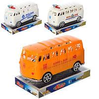 Игрушка Автобус инерционный 6688-56-57-58