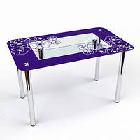 """Стеклянный стол """"Маки S-2"""""""