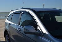 Дефлекторы окон (ветровики) Honda CR-V 2007 - 2012 4дв  Хром молдинг