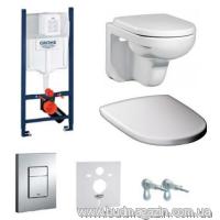 Комплект инсталяции Grohe 38840000 + унитаз Gustavberg + кнопка 38732000