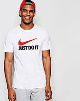 Футболка Мужская Найк | Nike Just Do It  белая