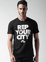 Футболка мужская стильная NIKE BLACK REP YOUR CITY