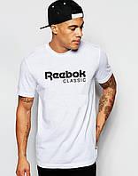 Мужская футболка Reebok(с черным принтом)