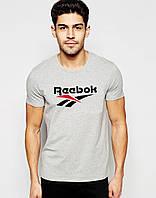"""Мужская футболка  Reebok  серая """""""" В стиле Reebok """""""""""