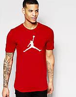 """Мужская   красная  футболка Jordan   """""""" В стиле Jordan """""""""""