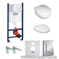 Комплект инсталяции Grohe 38840000 + унитаз Villeroy&Boch TUBE+кнопка 38732000