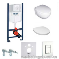Комплект инсталяции Grohe 38840000 + унитаз Villeroy&Boch TUBE+кнопка 38732SH0