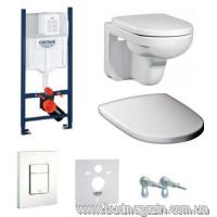 Комплект инсталяции Grohe 38840000 + унитаз Gustavberg + кнопка 38732SH0