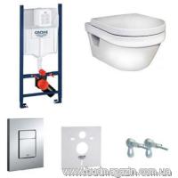 Комплект инсталяции Grohe 38840000 + унитаз Gustavberg 5G84HR01 + кнопка 38732000