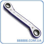 Ключ накидной храповый двухсторонний гнутый 14x15mm AEAF1415 TOPTUL