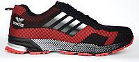Кроссовки (реплика Adidas Marathon) красно-черные. Размеры 36, 37, 38, 39, 40. Bonote 8523-2.