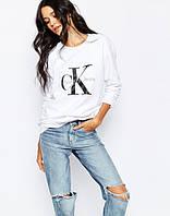 """Свитшот женский с принтом """"Calvin Klein Jeans""""    Кофта"""