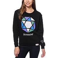 Свитшот женский с принтом Diamond Supply Co. Le Diamant Abstract Crew  Кофта