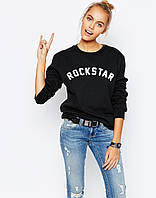 Свитшот женский с принтом Rockstar | Кофта