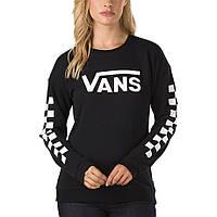Свитшот женский с принтом Vans Stripes Logo Кофта