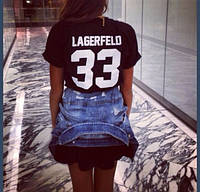 """Футболка женская с принтом """"Лагерфельд 33"""" Lagerfeld 33"""
