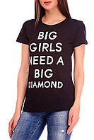 Футболка женская с принтом Punk Queen Diamond