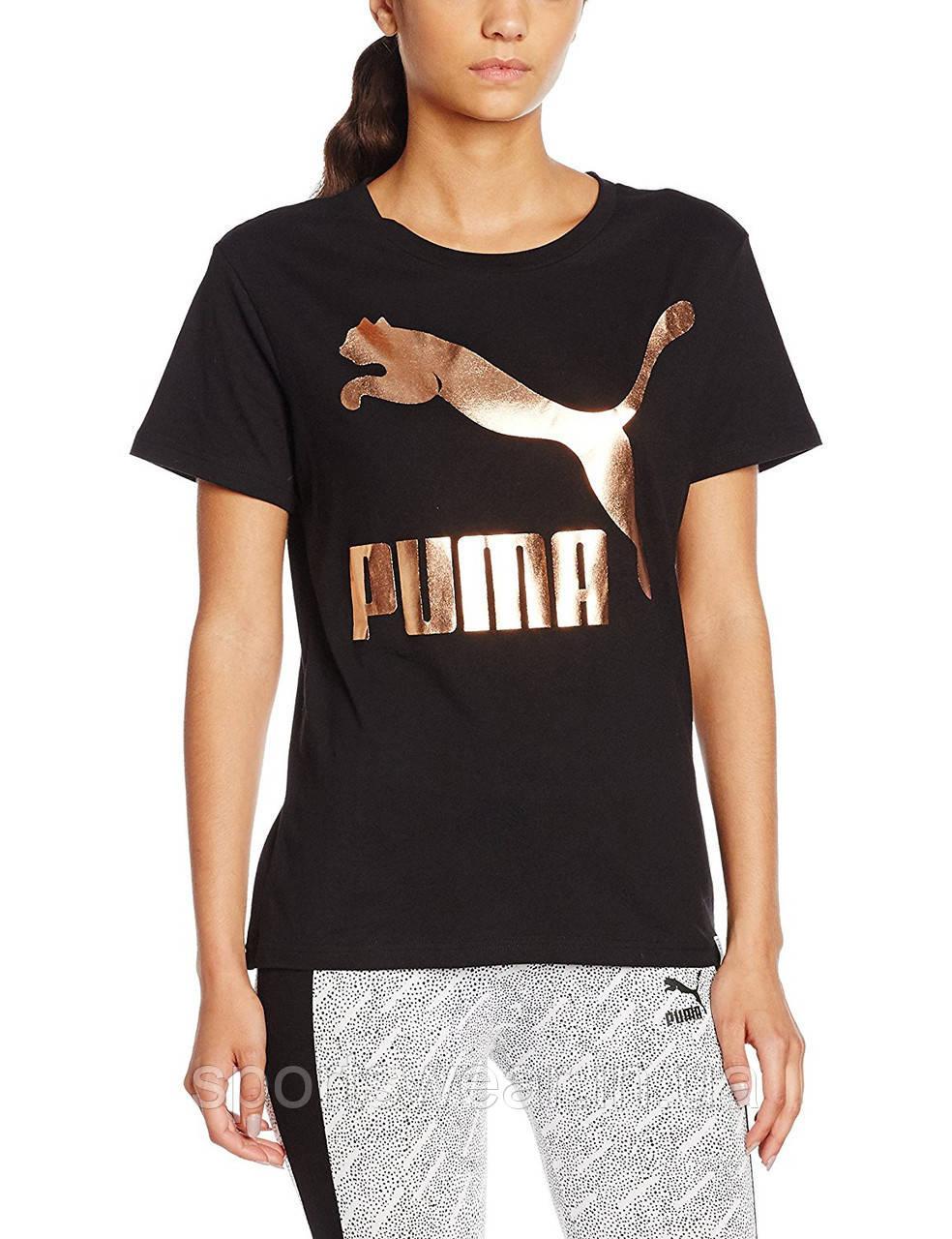 fa0e99a520b76 Футболка Женская Puma Classic женская ( Черная )