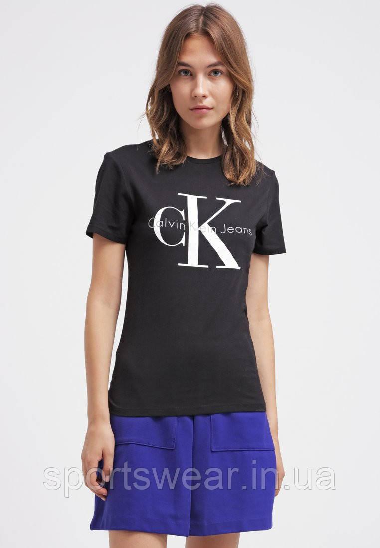 120bf566d5f53 Женская Футболка Calvin Klein Jeans ( Черная )