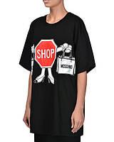 Футболочка женская с принтом Moschino Shop