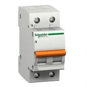 Автоматический выключатель 6А 4,5кА 2 полюса тип C 11211 Домовой ВА63 Schneider Electric