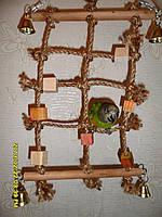 Игрушка для попугая (Веревочная сеть), фото 1