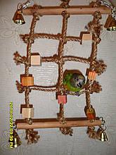 Іграшка для папуги (Мотузкові мережа)