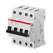 Автоматический выключатель 10A 6кА 4 полюса тип B SH204-B10 ABB