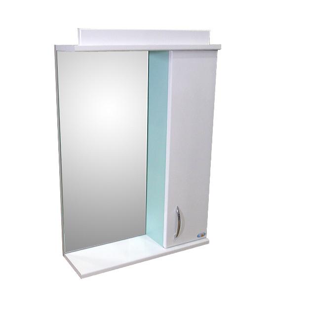 Зеркало Амадин 066 с подсветкой 50 см Салат-пастель