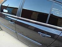 Renault Megane II Наружняя окантовка стекол Hatchback, OmsaLine
