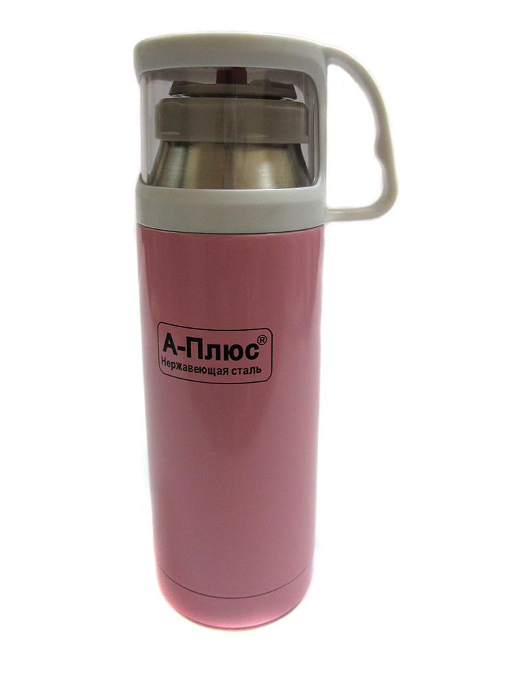 Вакуумный термос детский 350мл A-plus 1778 Pink