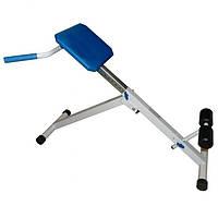 Скамья, лавка для мышц спины (гиперэкстензия) регулируемая