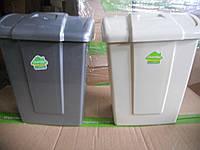 """Контейнер пластиковый с крышкой для мусора """"Форте"""" 23л"""