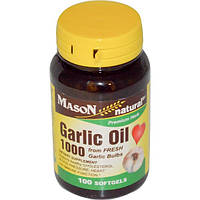 Чесночное масло в капсулах, Mason Vitamins, 100 мягких капсул