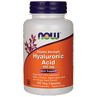 Гиалуроновая кислота для лица, Now Foods, 100 мг, 120 капсул