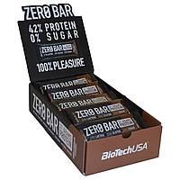 Протеиновые батончики Zero Bar BioTech, 20 штук по 50 грамм (упаковка)