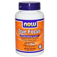 Витамины для концентрации внимания, Тру Фокус, True Focus, Now Foods, 90 капсул