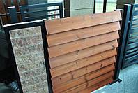 Деревянный забор из термодерева, дерева.